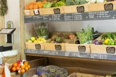 Biologische groente kraam
